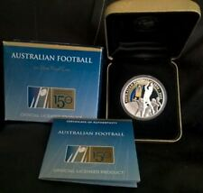 2008 ONE DOLLAR SILVER PROOF COIN *AUSTRALIAN FOOTBALL 150 YEARS* ONE OZ SILVER