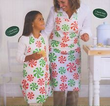Christmas Candy Mints Child Plastic Aprons 2pcs Holday Craft Art Supplies