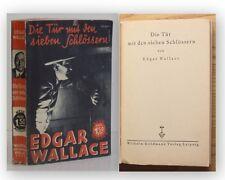 Wallace Die Tür mit den Sieben Schlössern 1931 Belletristik Roman Krimi  xy