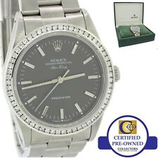 MINT Rolex Oyster Perpetual Air-King Grey 14000 34mm Precision Diamond Watch