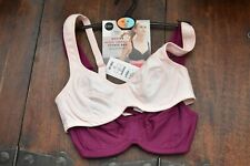 MARKS & SPENCER M&S Collection 2 Pack High Impact Underwired Sports Bra 32A Pink