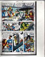 Original Avengers Marvel color guide art: Thor/She-Hulk/Iron Man/Captain America