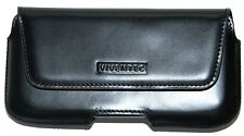 Genuine Leather Belt Clip Carrying Case for Sony experia Fit In With Bumper