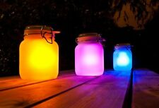 LED Solar Glass Jar Multi Colour Lantern Christmas Light Decorations Gifts
