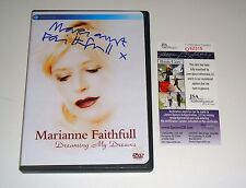 UK Legendary singer Marianne Faithfull Signed DVD Dreaming My Dreams JSA CERT