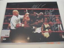 MIKE TYSON BADDEST MAN ON THE PLANET VS HOLYFIELD PSA/DNA SIGNED 16X20 PHOTO