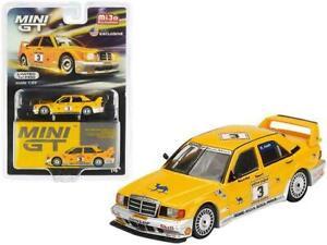 MINI GT MGT00187 MERCEDES BENZ 190E 2.5-16 EVOLUTION II CAMEL 1990 1/64 3 YELLOW