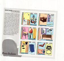 foglietto francobolli design italiano 2000 nel paesaggio domestico