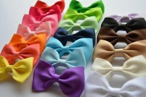3 inch Classic Hair Bow with Alligator clip or bobbles elastic