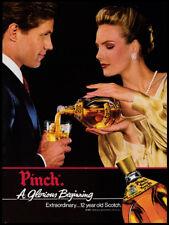 Pinch Scotch whiskey print ad 1983 A Glorious Beginning - glamorous couple