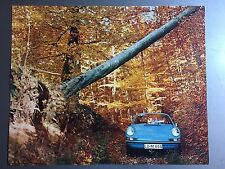 1972 Porsche 911 Coupe Showroom Advertising Sales Poster RARE!! Awesome L@@K