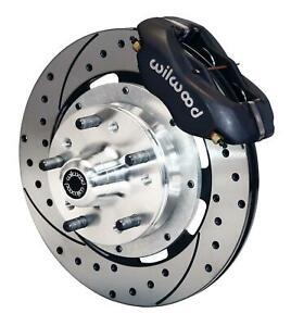 "Wilwood Mopar B & E Body Front Disc Big Brake Kit 12"" Drilled Rotor Black"