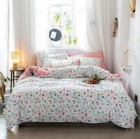 3D Red Floral ZHUA4023 Bed Pillowcases Quilt Duvet Cover Set Queen King Zoe
