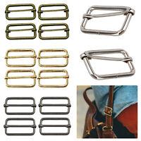 Rectangle Metal Sliding Bar Slider Adjustable Buckles Tri-Glides Webbing Straps