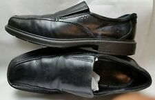 Ecco New Jersey Leather Black Slip On Moccasin Loafer Men Shoes Sz 11/11.5 R$150
