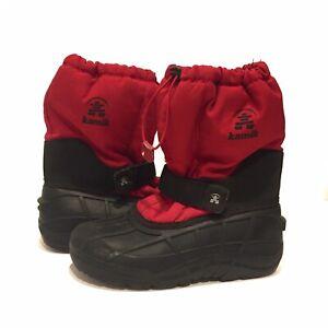 Little Kid 2 US Kamik Scarlet Girl/'s Thinsulate Waterproof Winter Boots Red