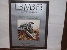 1984 Allis-Chalmers L3 M3 F3 Gleaner Combine Brochure Unused NOS
