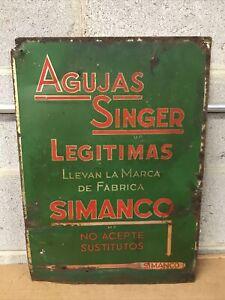 Rare Vintage Singer Sewing Simanco advertising sign