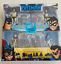 BATMAN THE ANIMATED SERIES GOTHAM CITY ACTION FIGURE 4 PACK BATGIRL NIGHTWING