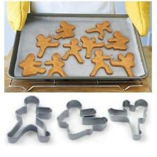 Ninjabread Men Cookie Biscuit Cutters - Gingerbread 3 Pcs Ninja Man Men New LA