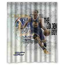 "New Waterproof Stephen Curry Basket Ball Custom Shower Curtain 60 x 72 """