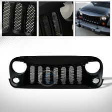BLACK ANGRY BIRD VERTICAL MESH FRONT BUMPER GRILL GRILLE 07-18 JEEP WRANGLER JK