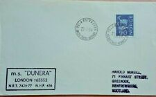 NORWAY 1967 ARCTIC CIRCLE ENGLISH POSTMARK COVER WITH PAQUEBOT M.S. DUNERA MARK