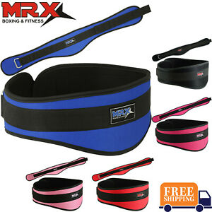 """Weight Lifting Belt 6"""" Lower Back Support Gym Fitness Bodybuilding Men & Womens"""