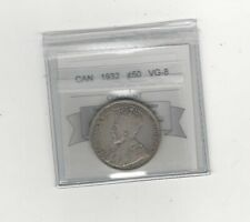 1932  Coin Mart Graded Canadian 50 Cent, **VG-8**