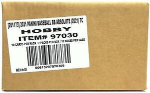 2021 PANINI ABSOLUTE BASEBALL HOBBY 10-BOX CASE