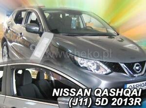 Viento desviadores delanteras y traseras tintadas 4 un se adapta a Nissan Qashqai 5dr 07 /> hecho de la UE