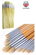 Artist Paint Brush Set 12PC Round Tipped 1 - 12 Art Set Decorating Acrylic Paint