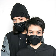 Fashion Hip-hop Punk Leather mask Motorcycle Masks Face Mask with Button