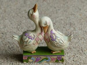 Jim Shore Heartwood Creek Pair of Loving Ducks 14cms max 4056942