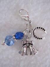 Something Blue Bride / Bridal Wedding Charm - Good Luck Gift - Bells & Horseshoe