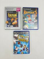 Rayman Raving Rabbids 3 Revolution PS2 Sony Playstation 2 Computer Game Bundle