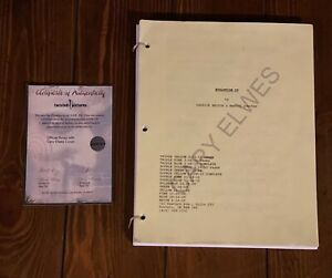SAW Cary Elwes Official Lionsgate Script With COA Rare Jigsaw