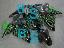 Black Fairings Kit Kawasaki Ninja ZX14R ZX-14R 07 08 09 10 2006-2011 3 A2