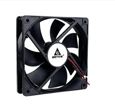More details for 12cm 120mm pc fan cooling heat sink computer case 12v 2 pin wire black cpu