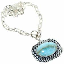 "Hemimorphite Gemstone Handmade Ethnic 925 Sterling Silver Necklace 18"""