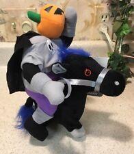 "Animated Headless Horseman 9"" Halloween Decoration Galloping Horse New Sounds"