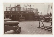 Quarterdeck Looking Aft HMS Victory Vintage RP Postcard 255a