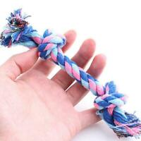 Pet Dog Bite Rope Toy Knot Molar Bite Resistant Double R Color P6K0 Cotton J0W3
