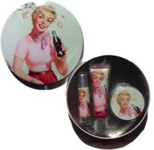 Coca-Cola Cherry Coke Lip Happiness Kit In A Collectable Tin (tin Inside too!)