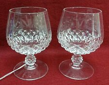 CRISTAL D'ARQUES Durand crystal LONGCHAMP Set of 2 Brandy Goblets Glasses 5-1/4""