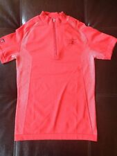 NWOT Antigua Golf Shirt Desert Dry Women's Size Small Coral Pink Short Sleeve T4