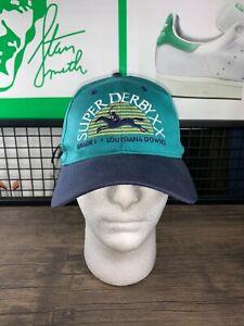 Vintage Super Derby XX Lousiana Downs Teal Hat