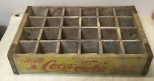 Vintage 1969 Chattanooga  Coke Coca Cola Wood Soda Pop Case Crate 24 Dividers