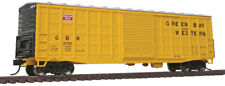 Walthers Ho Scale 50' Waffle-Side Boxcar Green Bay & Western/Gb&W Yellow #2700