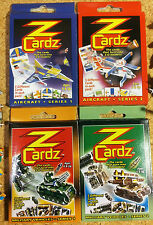 KIDS PARTY GIFTS 12 packs of 5 ZCardz mini models: aircraft & military vehicles